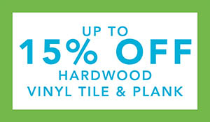Up to 15% off hardwood, vinyl tile & plank during the Spring Fling Sale at Towne Pride in Hampstead!