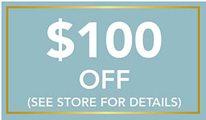 $100 off your purchase of $1500 or more during the National Gold Tag Flooring Sale at Towne Pride Interiors in Hampstead!