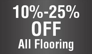 10-25% OFF all flooring this month only!