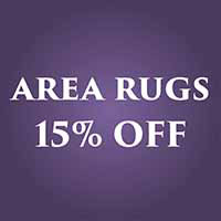 Area Rugs 15% Off this month at Towne Pride in Hampstead.