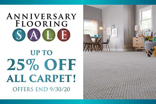 Up to 25% OFF all carpet this month at Towne Pride in Hampstead!