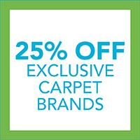25% off exclusive carpet brands during our Spring Fling Sale. Sale ends 4/30/21